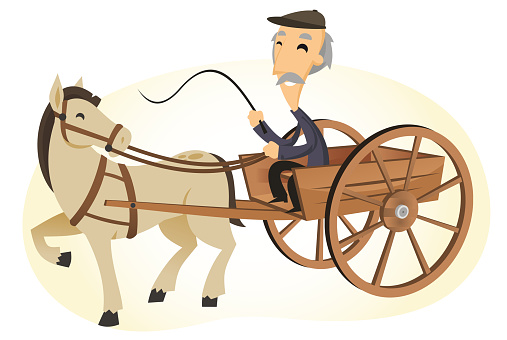 Horse drawn cart
