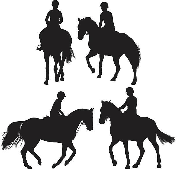 pferd reiter-optik - reiter stock-grafiken, -clipart, -cartoons und -symbole