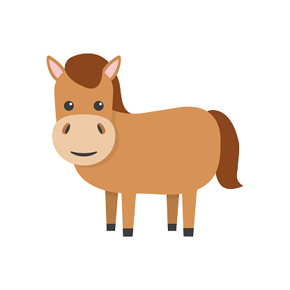 Horse flat character.