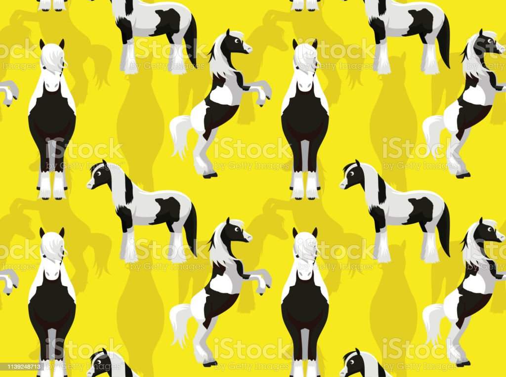 Horse Gypsy Cartoon Background Seamless Wallpaper Stock Illustration Download Image Now Istock