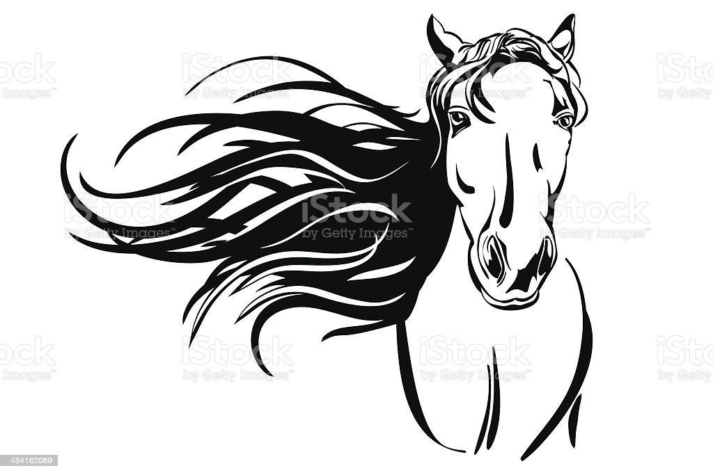 Vetores De Cavalo Mao Desenhada Llustration Desenho De Vetor