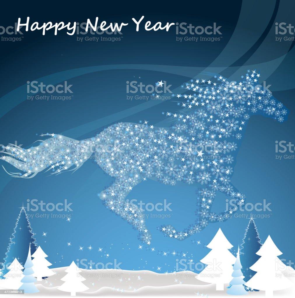 Horse, Happy new year  2014