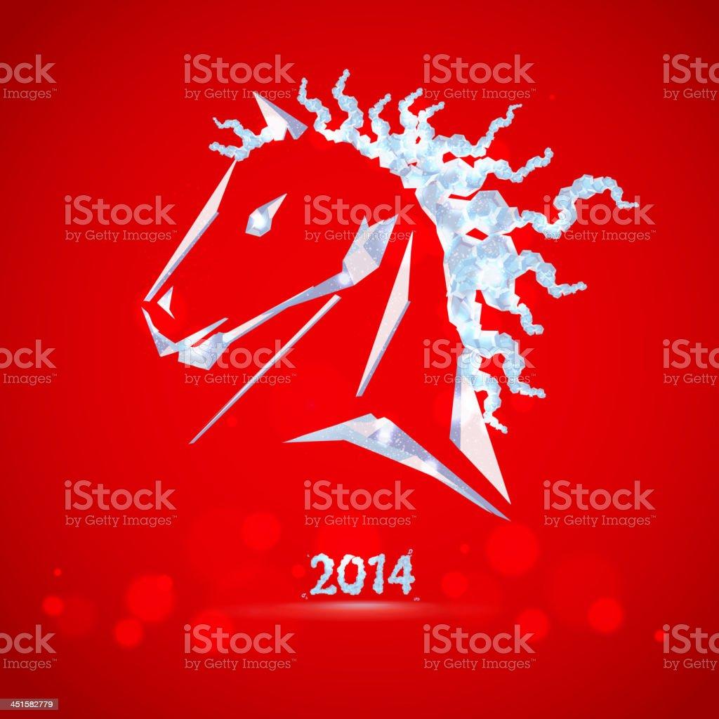 horse happy new year royalty free horse happy new year stock vector art