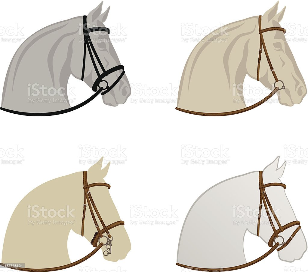 Horse harness royalty-free horse harness stock vector art & more images of animal