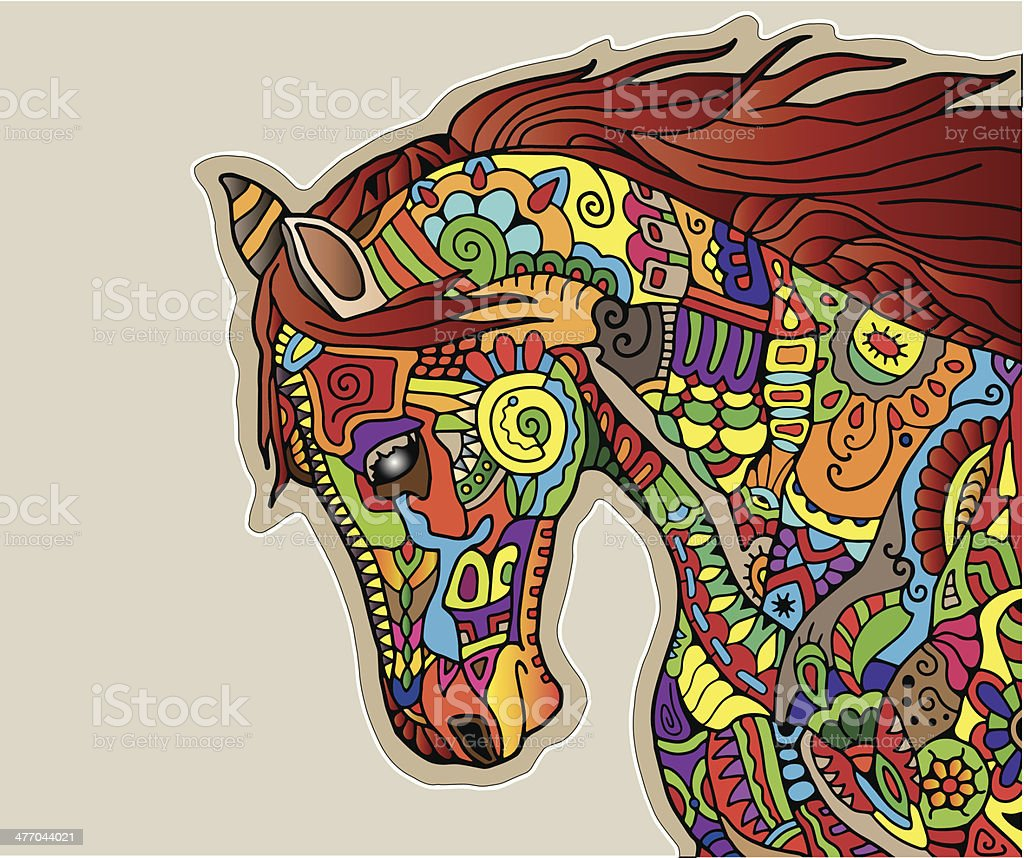 Horse Head Geometric Ornament Colorful Vector Illustration Stock Illustration Download Image Now Istock