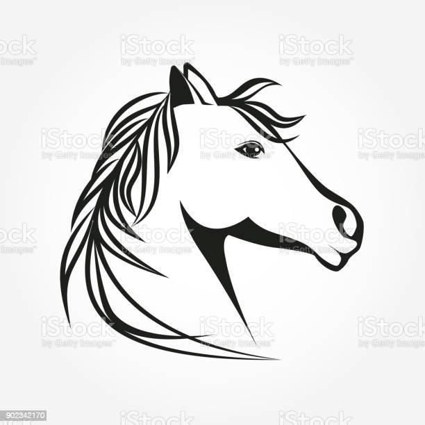 Horse head icon vector stylized horse portrait emblem illustration vector id902342170?b=1&k=6&m=902342170&s=612x612&h=khsk ty1cehep22tfoc4d3keziojxflhan9k0jizrmy=