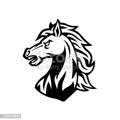 istock horse head mascot logo vector design template 1254516625