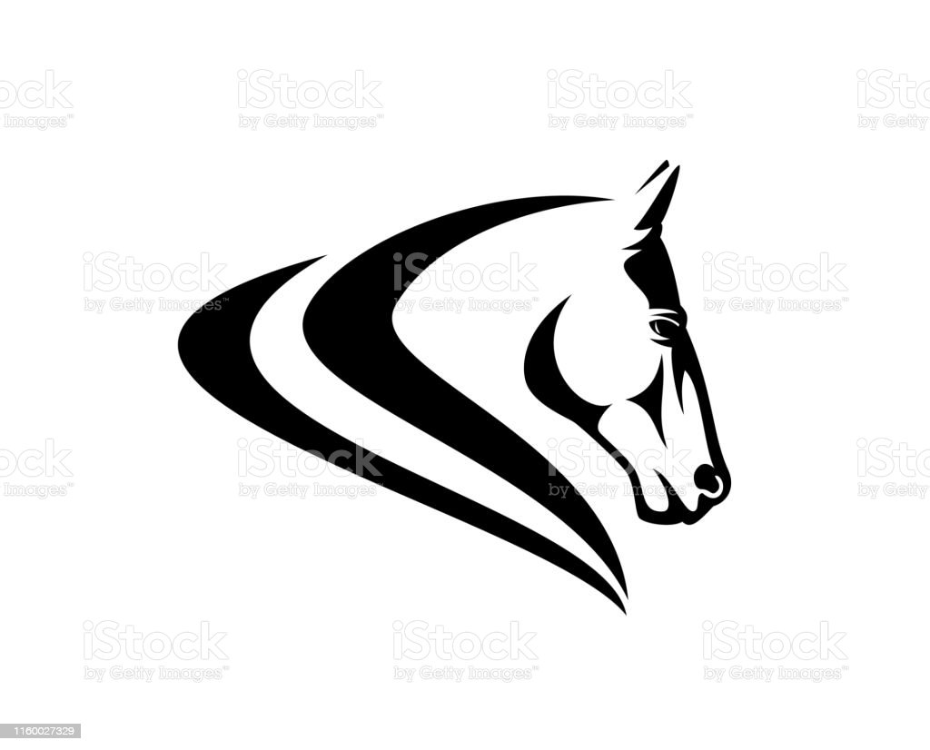 Horse Head Simple Profile Black Vector Design Stock Illustration Download Image Now Istock