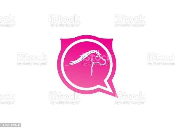 Horse head symbol in chat icon for logo design illustration vector id1151605406?b=1&k=6&m=1151605406&s=612x612&h= net1v0tc2ad3jwaekdohp4kf6h1zprjumtj72zu4 0=