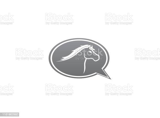 Horse head symbol in chat icon for logo design illustration vector id1151902552?b=1&k=6&m=1151902552&s=612x612&h=exe lprz0bjbgdtw wv0upoufuscuznv4kgykkktzxm=