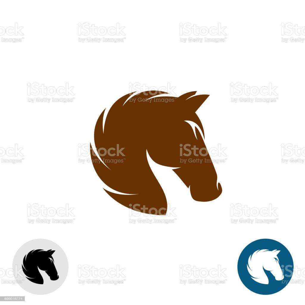 Horse head symbol simple elegant one color silhouette stock vector horse head symbol simple elegant one color silhouette royalty free horse head symbol buycottarizona