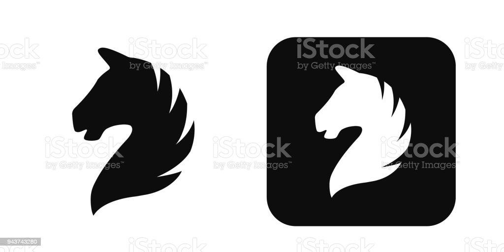 Horse head vector icon isolated on white. Horse head logo. Horse head silhouette vector art illustration