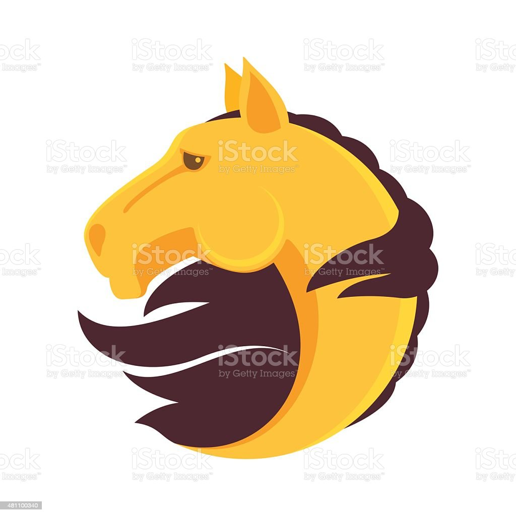 Horse head vector icon vector art illustration