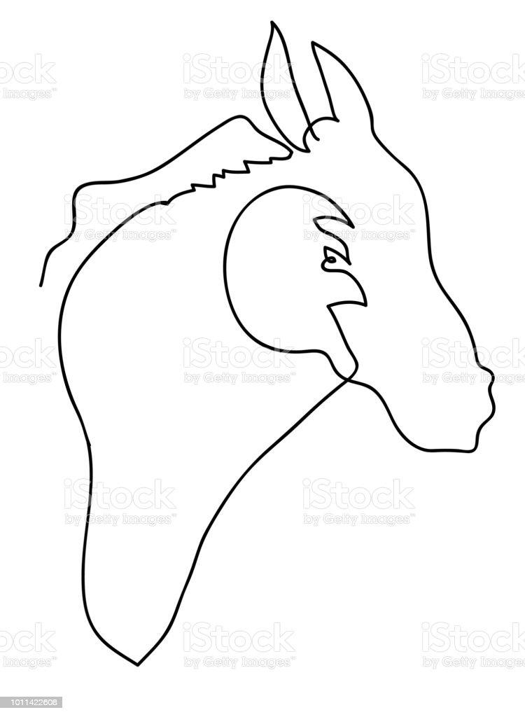 At kafası vektör sanat illüstrasyonu