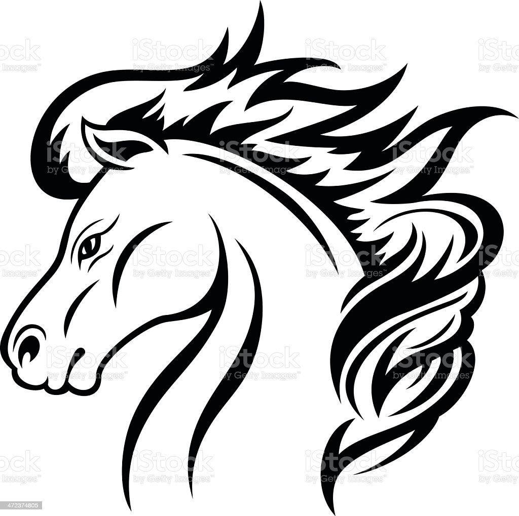 horse head stock vector art more images of animal 472374805 istock rh istockphoto com horse head vector clipart horse head vector black and white