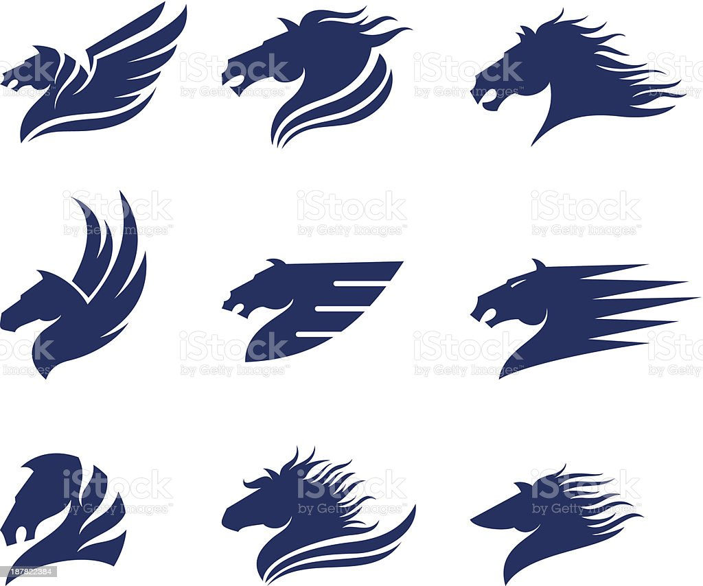 Horse heads royalty-free horse heads stock vector art & more images of animal