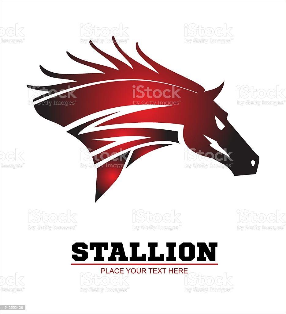 Horse, horse head vector art illustration
