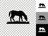istock Horse Icon on Checkerboard Transparent Background 1263992798