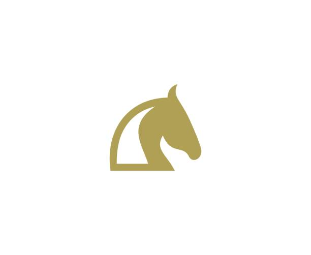 Horse icon This illustration/vector you can use for any purpose related to your business. stallion stock illustrations