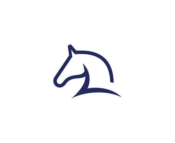 ilustraciones, imágenes clip art, dibujos animados e iconos de stock de icono de caballos - caballo