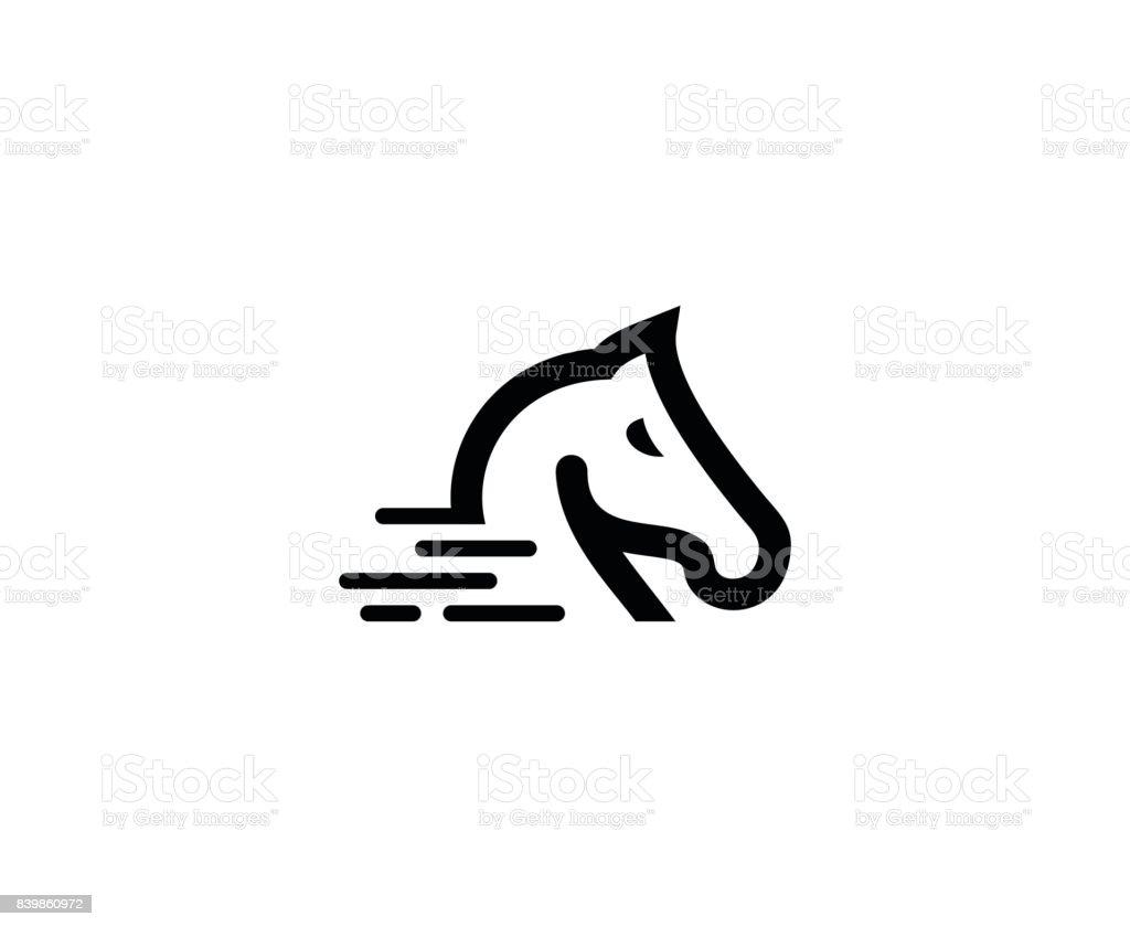 Horse icon vector art illustration