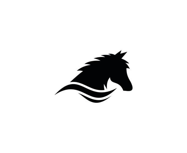 pferd symbol - mustangs stock-grafiken, -clipart, -cartoons und -symbole