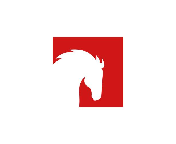 Horse icon vector art illustration