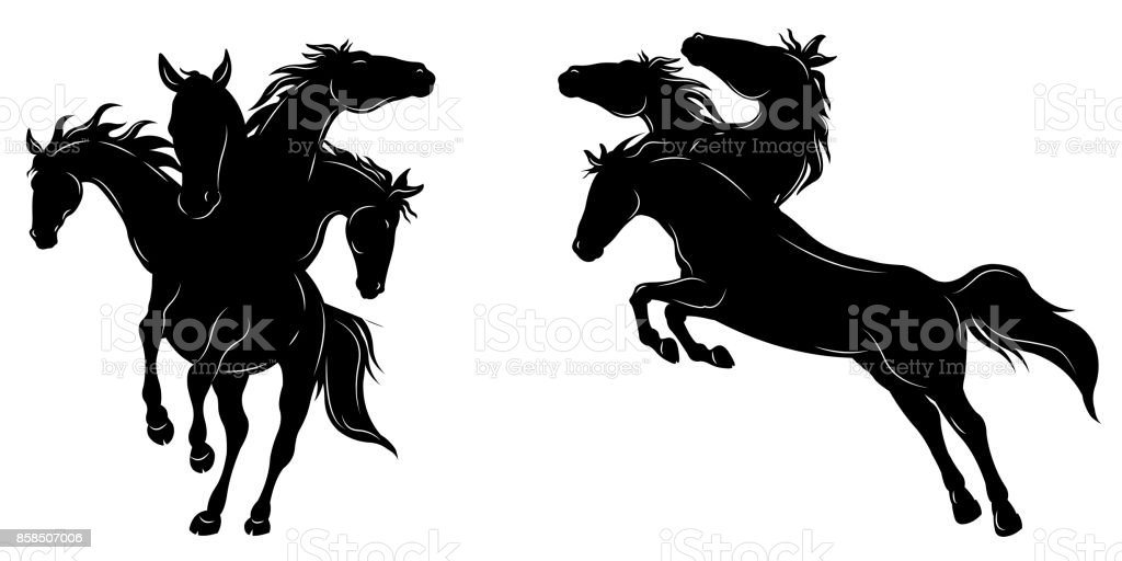Horse in Action vector art illustration