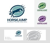 Horse Jump vector logo