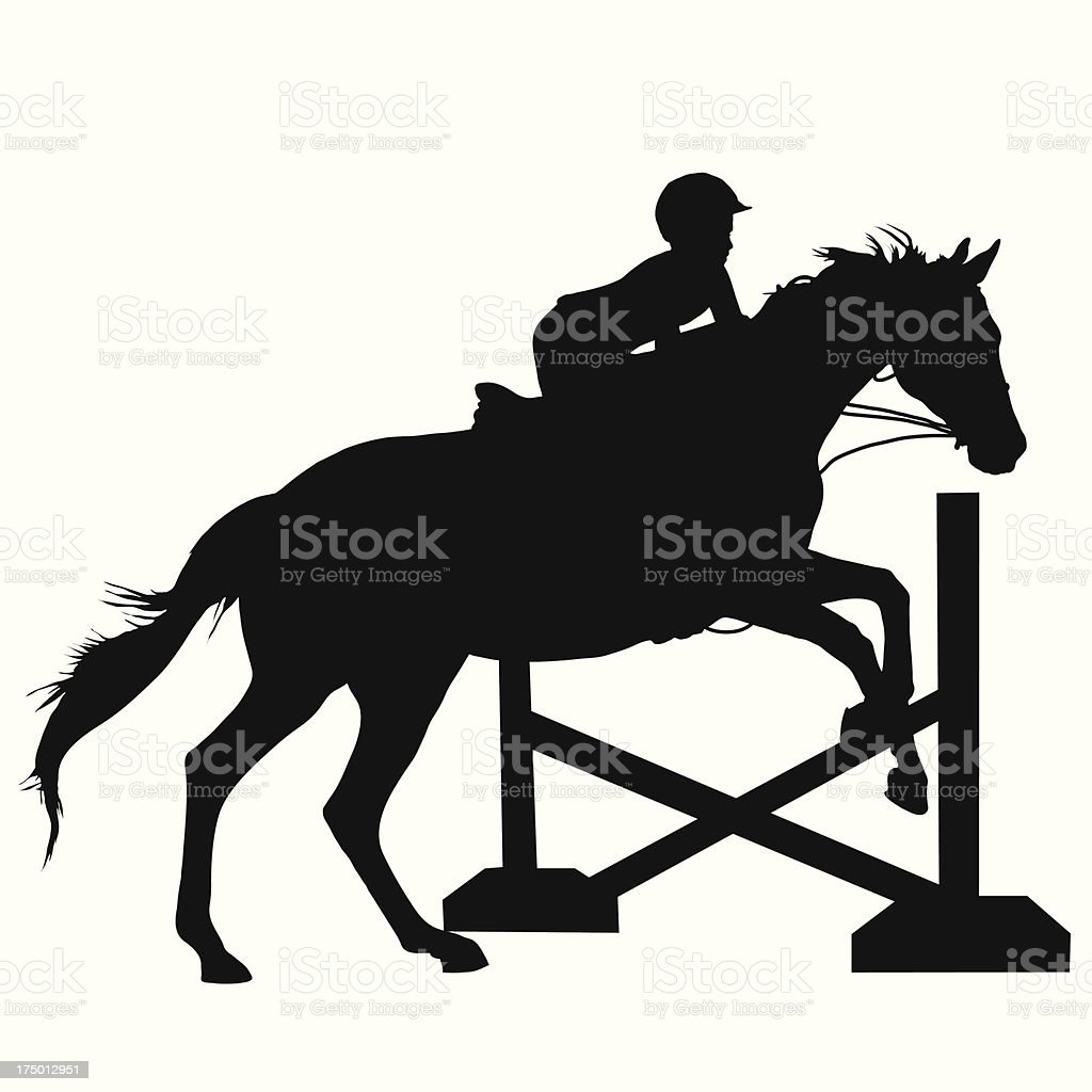 Horse Jumping Silhouette Stock Illustration Download Image Now Istock