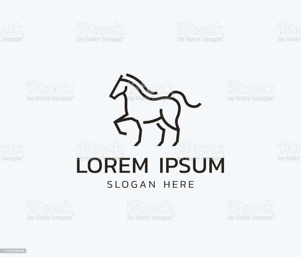 Horse Line Logo Stock Illustration Download Image Now Istock