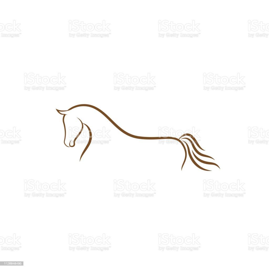 Horse Logo Design Illustration Horse Silhouette Vector Horse Vector Inspiration Vector Of A Horse On White Background Stock Illustration Download Image Now Istock