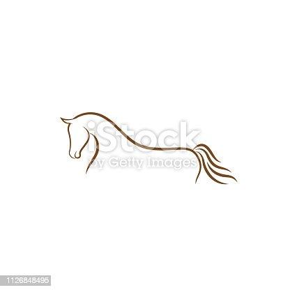 Horse logo design illustration, Horse silhouette vector, Horse vector inspiration, Vector of a horse on white background.