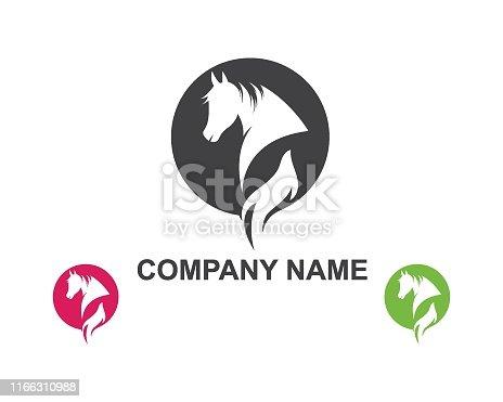 istock Horse Logo Template Vector illustration 1166310988