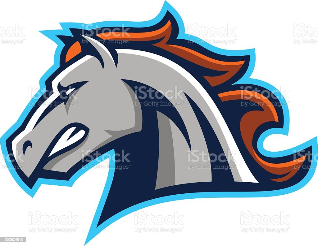 Horse Mascot Logo vector art illustration