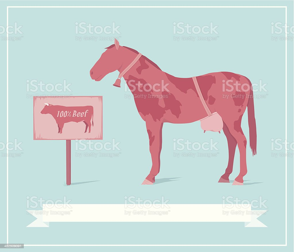 Horse Fleisch Skandal Vektor Illustration 452509391 | iStock