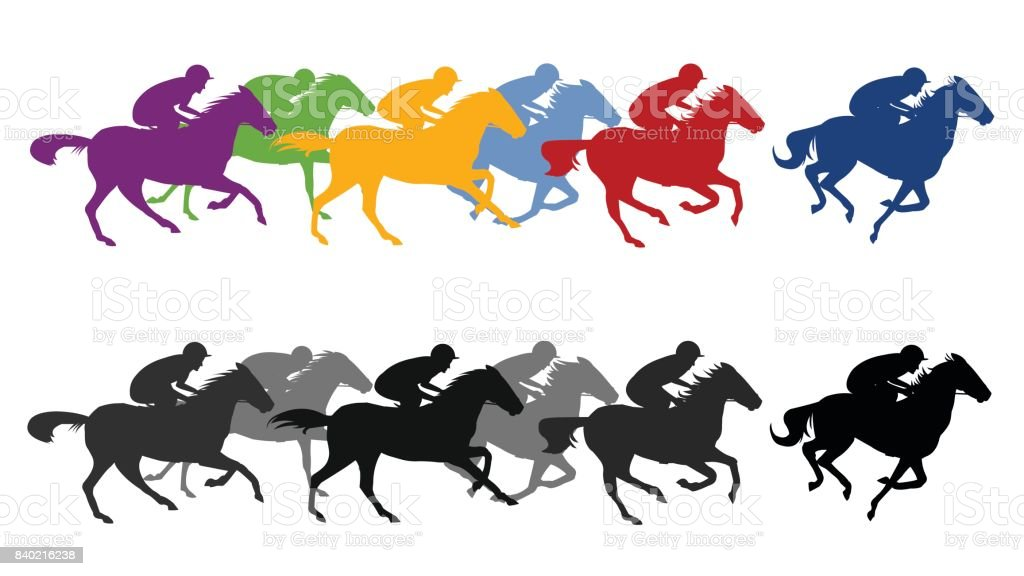 royalty free thoroughbred horse racing clip art vector images rh istockphoto com horse racing clip art images horse racing clipart png