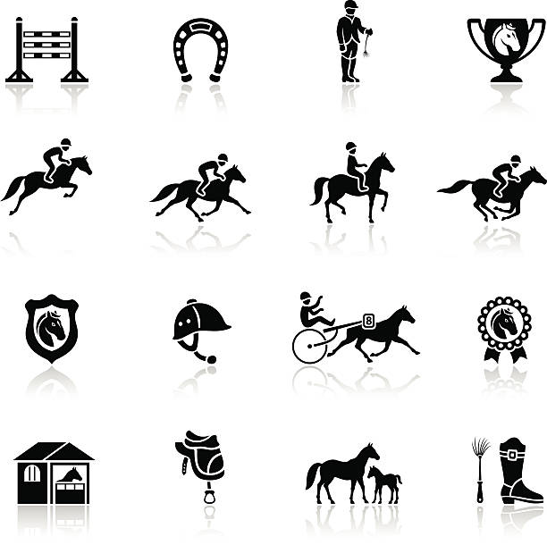 Horse Racing Icon vector art illustration