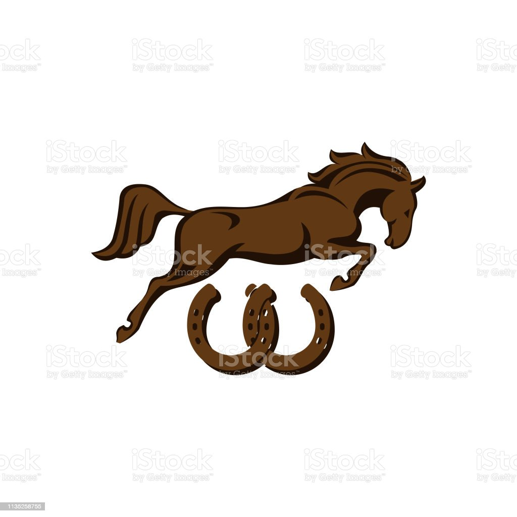 Horse Racing Logo Template Vector Racer Or Rearing Mustang And Running Stallion Head For Equine Sport Races Or Rides And Equestrian Contest Stock Illustration Download Image Now Istock