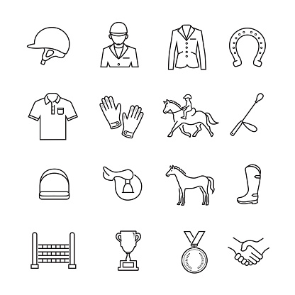 Horse Racing Thin line Icon