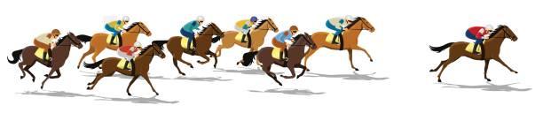 at yarışı - horse racing stock illustrations