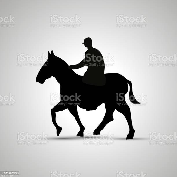 Horse rider silhouette side view simple black icon with shadow vector id892345988?b=1&k=6&m=892345988&s=612x612&h=1iju3pxevnirtkwiycwpo3zwstiku3evosa5fou8b6s=