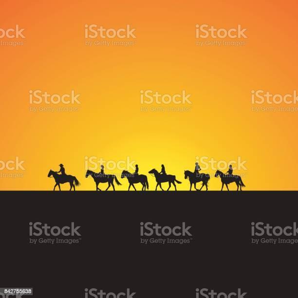 Horse riders silhouettes at sunrise vector id842755638?b=1&k=6&m=842755638&s=612x612&h=qra2iufyhxhiy3xus7ox j6qinykuuhzzf8ywuwpryu=