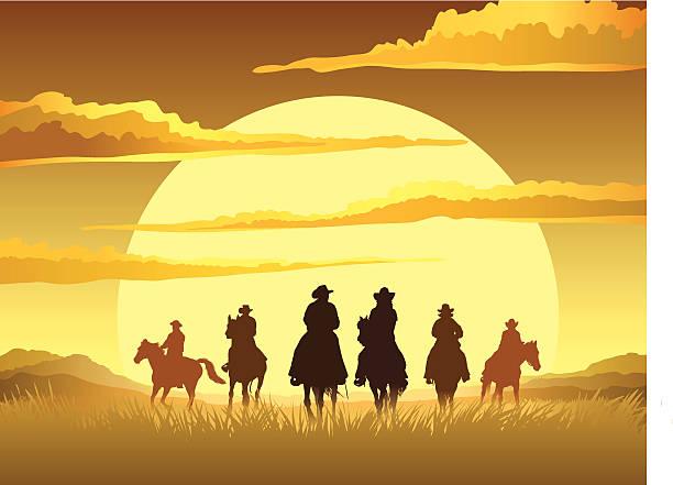 Les Cavaliers - Illustration vectorielle