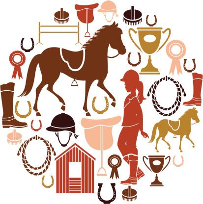 Horse Riding Icon Set