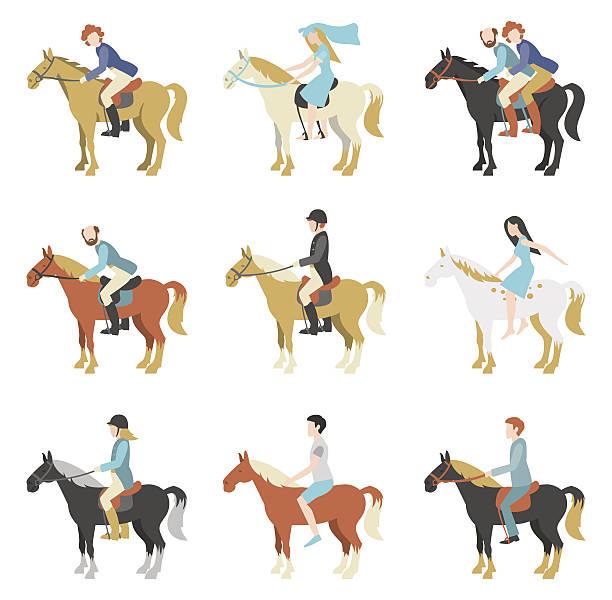乗馬レッスン - 乗馬点のイラスト素材/クリップアート素材/マンガ素材/アイコン素材