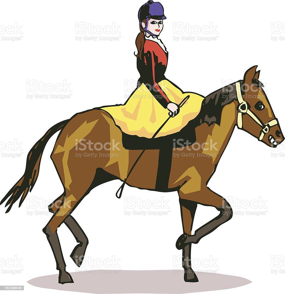 horse riding royalty-free stock vector art