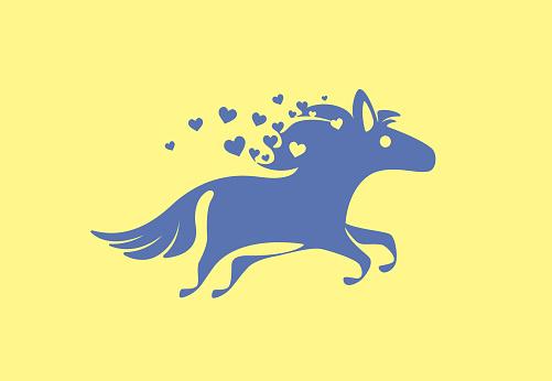 horse running symbol