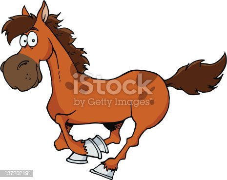 Horse Mascot Cartoon Character