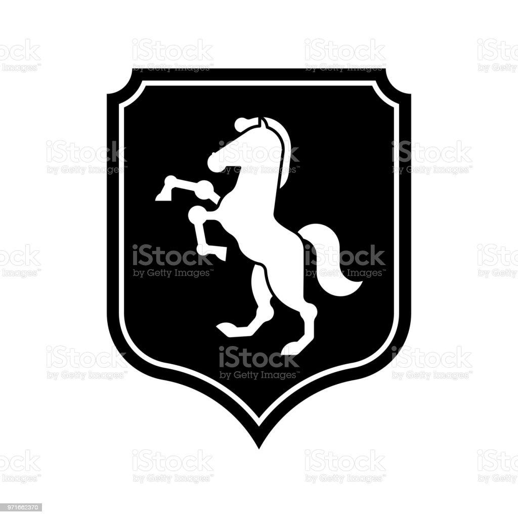 Horse Shield Heraldic Symbol Sign Royal Horse For Coat Of